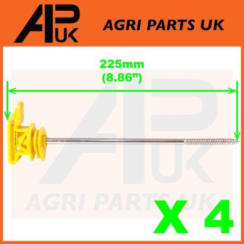 4 X Clôture Électrique Long Vis Poly Ruban Ruban isolants 20 mm 40 mm Off Set corde