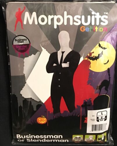 "party in L 5/'4/""-5/'10/"" NIP see//drink through Morphsuits Slenderman Businessman"