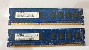 ELPIDA-2x-2-1-Go-Go-Memoire-RAM-DDR3-1RX8-PC3-10600U-9-10-A0-EBJ10UE8BDF0-DJ-F-HP