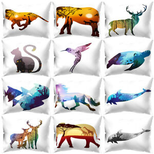 Am-KF-Color-Animal-Printed-Rectangle-Throw-Pillow-Case-Cushion-Cover-Home-Deco