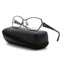 Alain Mikli Al 1020 Womens Eyeglasses 0200 Bronze Blue Black Frame Clear Lenses on sale