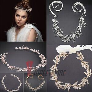 Beauty Leaf Crystal Hair Vine Headband Tiara Wedding Bridal Hair Accessories