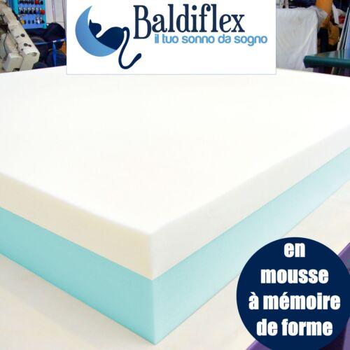 """Matelas 90 x 190 cm en Mousse Memoire de forme /""""2 couches 12+3/"""""""