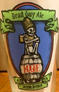 Dead-Guy-Ale-Rogue-Oregon-Brewed-Beer-Glass-Pint-Skeleton-16-Ounce-Barware