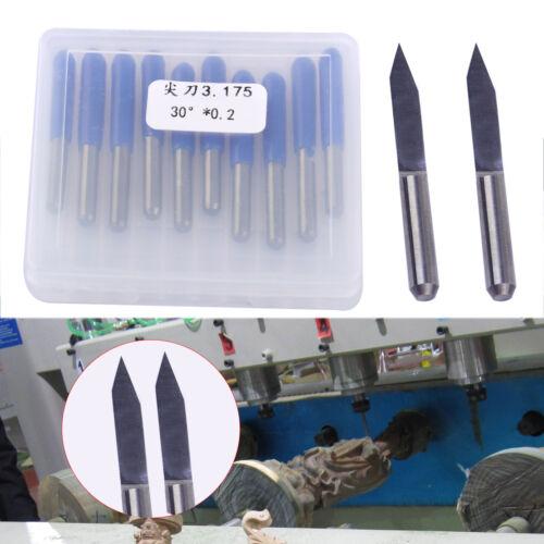 10stk 30° 0.2mm Gravurstichel 3.175mm Gravierstichel für CNC PCB Fräsmaschine V