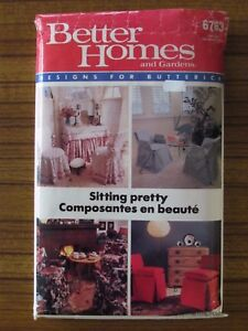 Image Is Loading BUTTERICK PATTERN 6763 SITTING PRETTY CHAIR COVERS HOME