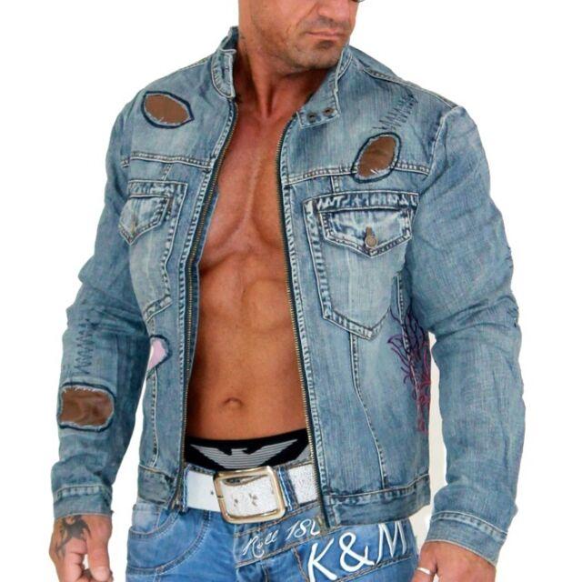 KOSMO LUPO  K&M  Herren Designer Jeansjacke Jeans Jacke Vintage Windbreaker