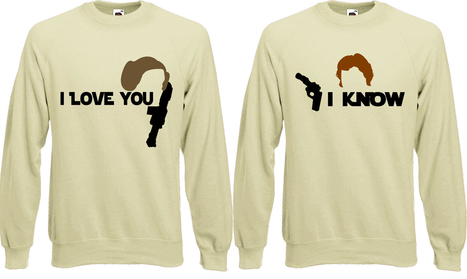 NERDY NERDY NERDY COPPIA GUERRE AMORE SAN VALENTINO SWEATER Leia & Han SILHOUETTE  so  AF58 5c4cef