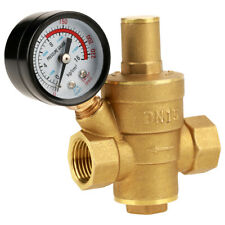 Dn15 Npt 12 Inch Adjtable Water Pressure Regulator Reducer With Gauge Meter S