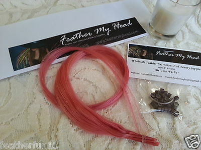 5 Pc100% Human Remy Hair Extensions Stick I Tip THREADING WIRE/INSTRUCTIONS