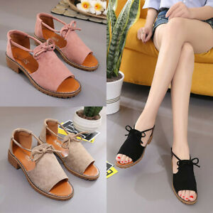 Women-Lady-Lace-Up-Wedge-Espadrilles-Summer-Chunky-Holiday-Sandals-Flat-Shoes-8