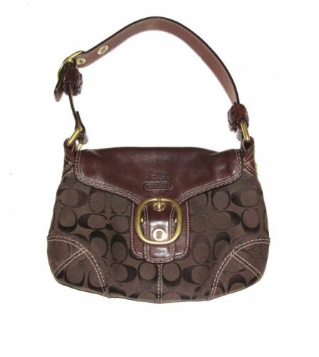 Bleeker Signature Brown Flap Tasche Hobo Coach pqU5Znxq
