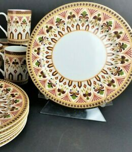 Set-of-4-Queen-039-s-Imari-Dessert-Salad-Plates-8-1-2-034-Perfect-for-Holiday