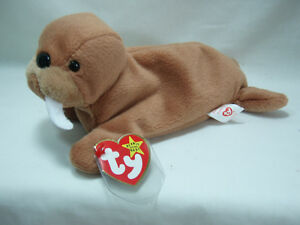 93fc96e5aa3 Ty Beanie Baby Tusk the Walrus 4th Generation Hang Tag MWMT TUCK ...