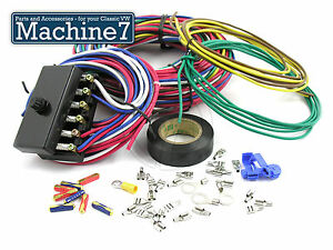 classic vw buggy kitcar trike wiring loom electrics with fuse box rh ebay co uk kit car indicator wiring diagram westfield kit car wiring diagram