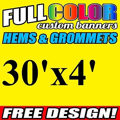 Personalized 2/' x 4/' Full Color Custom Banner 16oz Vinyl Fast Shipping