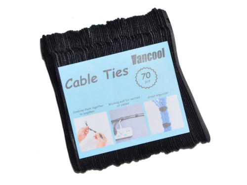 Vancool 70 PCS Cable Management Reusable Fastening Cable Ties Organizer 6-Inch