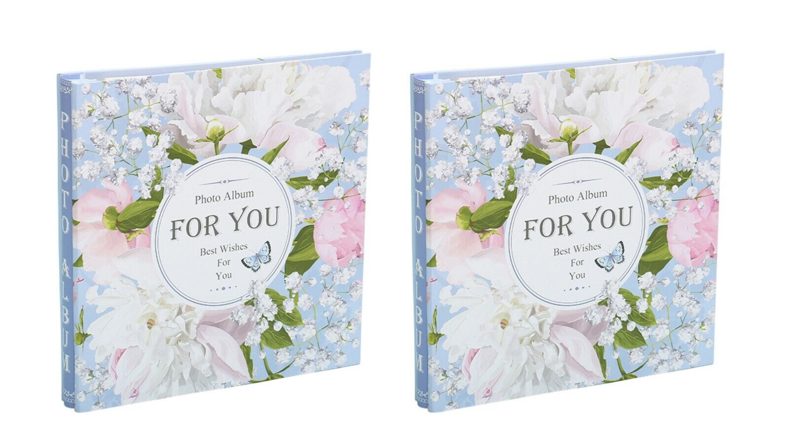 Large Self Adhesive Photo Album Hold Various Sized Picture Up to A4 Flower x 2