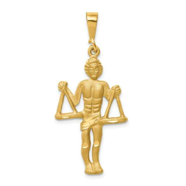 14K Gold Libra Zodiac Charm Jewelry FindingKing