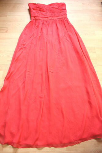 Boden Dress New 12 Charlotte Maxi Silk Coral rZw78f6Tr