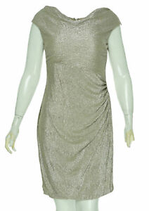 Lauren Ralph Lauren Women/'s Petite Floral Print Keyhole Dress Black Pearl $155