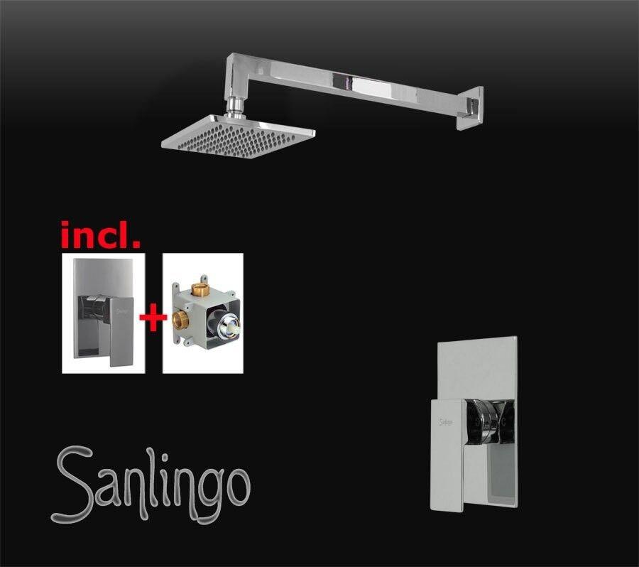Bagno Incasso Set doccia Massiccio Assemblaggio Box Cromo Sanlingo Angolare