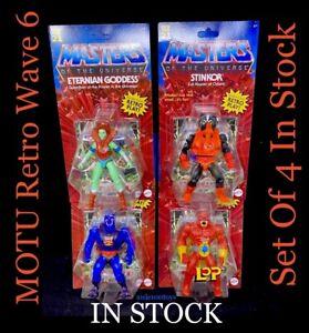MOTU Masters Of The Universe Retro Origins 2021 Wave 6 Set Of 4 Mattel IN STOCK