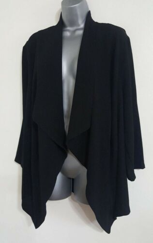 NEW ex Evans Plus Size Black Lined Waterfall Tailored Smart Blazer Jacket 14-28