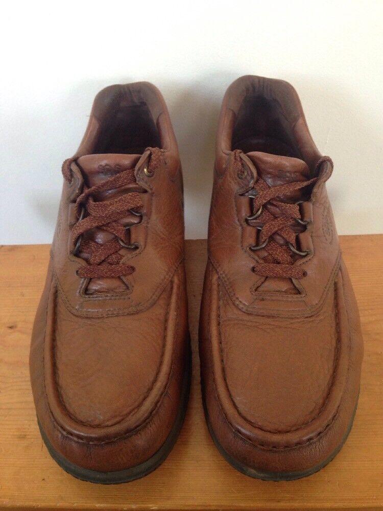 SAS Brown Leather Moc Toe Mens Walking Comfort Oxfords Sneakers USA 12M 46.5