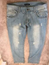 Dolce And Gabbana Men Jeans Size 50 Green Fit 100% authentic with plaque