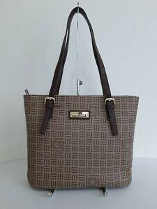 Anne-Klein-Women-039-s-Brown-Signature-Logo-Tote-Bag