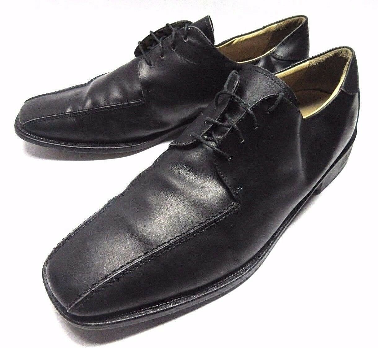 PRONTO men FIRENZE MADE IN ITALY OXFORDS SHOES SIZE 13 M BLACK LEATHER LACE UP
