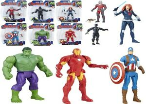 Marvel-Avengers-6-Inch-Basic-4-Toy-Captain-America-Iron-Man-Hulk-Black-Panther