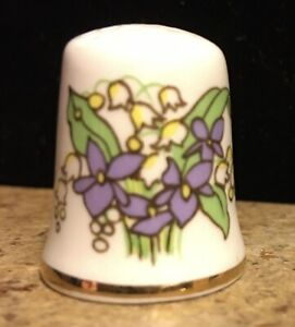 Vintage Thimble Mason's Patent Ironstone EASTER and FLOWERS ENGLAND