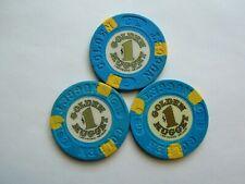 GOLDEN NUGGET CASINO -LAS VEGAS,NV - OBSOLETE CASINO CHIPS - Lot #27 of 3 chips