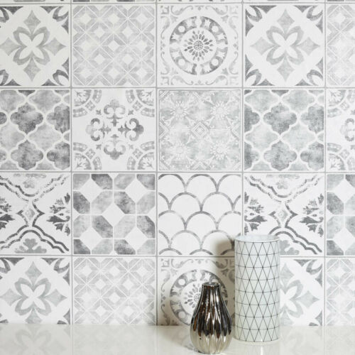 Arthouse Moroccan Style Diamond Tile Glitter Shimmer Vinyl Effect Wallpaper