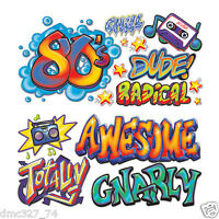 1980s Party Decoration Totally 80s Sayings Urban Hip Hop Graffiti Wall Props