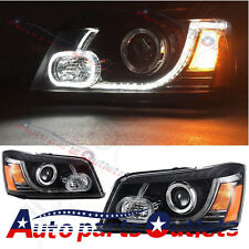 For 2001-2007 Toyota Highlander Land Rover Type  LED DRL Projector Headlights