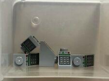 QTY 5 No 3040 Light Bluish Gray Slope 45 2 x 1 Keypad Pattern LEGO Parts