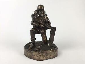 British-Kneeling-Soldier-Cold-Cast-Bronze-Military-Statue-Sculpture
