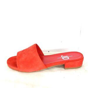 JD Damen Schuhe Damenschuhe Sandalen Pantoletten Gr 38 Rot Wildleder Leder Neu