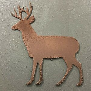 Deer-Metal-Wall-Art-Skilwerx-Colors-12-x-10-Nature-Animals-Wildlife-Decor