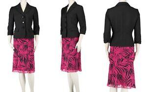 3f58504c10b99 Le Suit The Hamptons Women s Three-Button 2PC Printed Skirt Suit ...