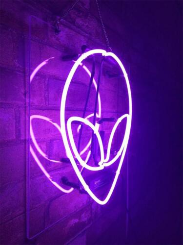 """14/""""x12/""""Alien Neon Sign Light Home Room Wall Hanging Real Glass Tube Visual Art"""