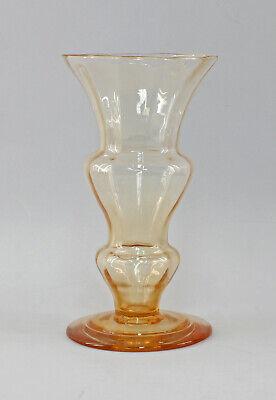 100% Wahr 8435025 Glas Vase Art Déco Bayerischer Wald Um 1925
