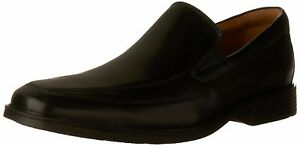 CLARKS-Mens-Tilden-free-Leather-Square-Toe-Penny-Black-Leather-Size-10-0