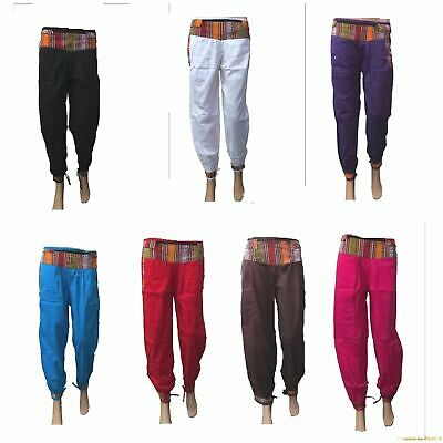 Assorted any 1 Colorful Om Casual Indian Alibaba Hippie Cotton Harem Pants