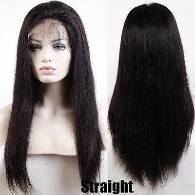 Brazilian Virgin Human Hair Wig Glueless Full Lace Lace Front Wig Black Women #x
