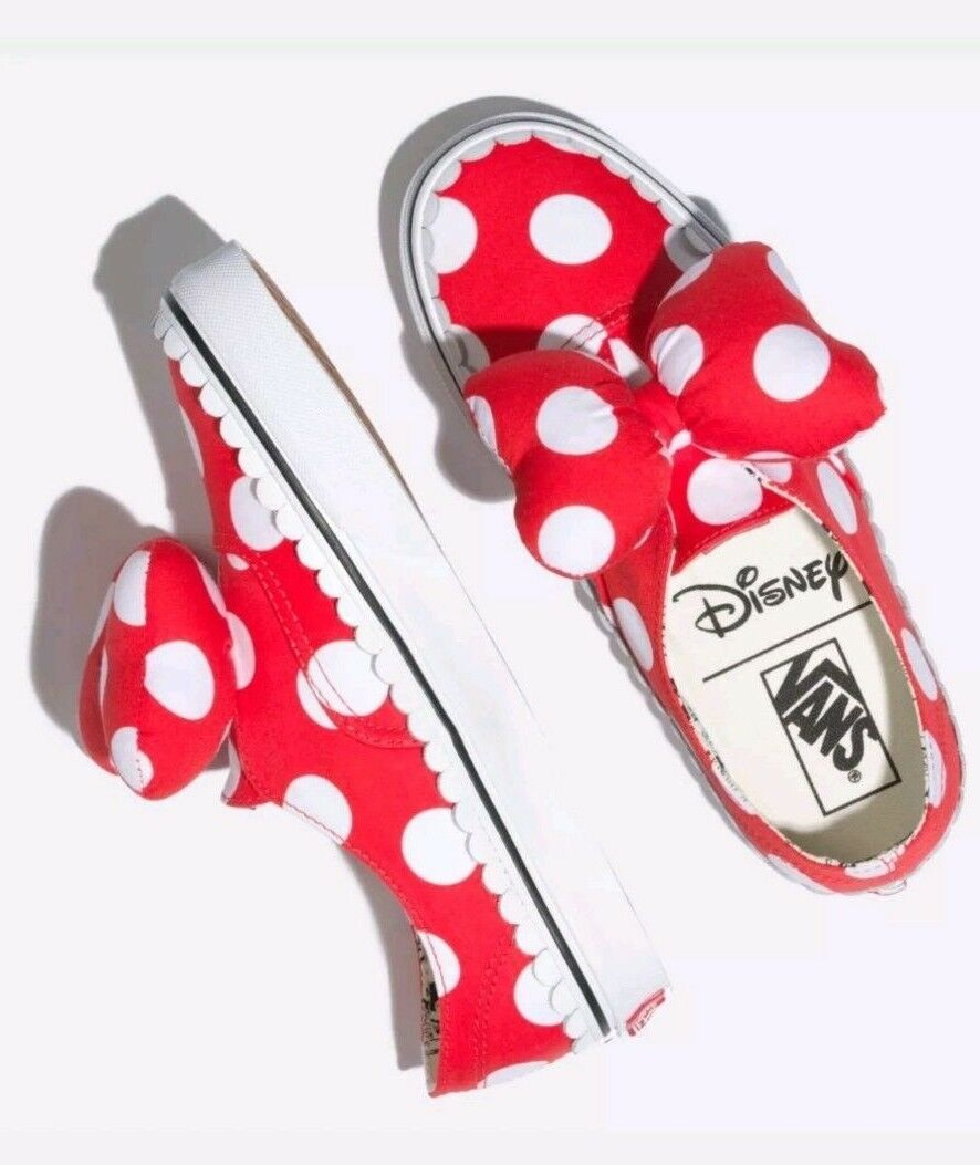 Damenschuhe Vans X Disney Authentic Gore Minnies Bow Bow Minnies ROT Weiß Schuhes Multi Größe 90ac73
