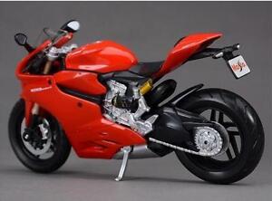 Red-1-12-Diecast-MOTO-PER-DUCATI-1199-PANIGALE-MOTO-Giocattolo-Bambini-Regalo